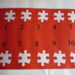Tien puzzelstukjes aftellen